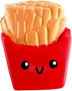 Ounabing Slow Rising Kawaii Scented Soft French Fries Squishies Food Toy 1 Pcs Squish-N-Squeeze Stress Relief Squishy