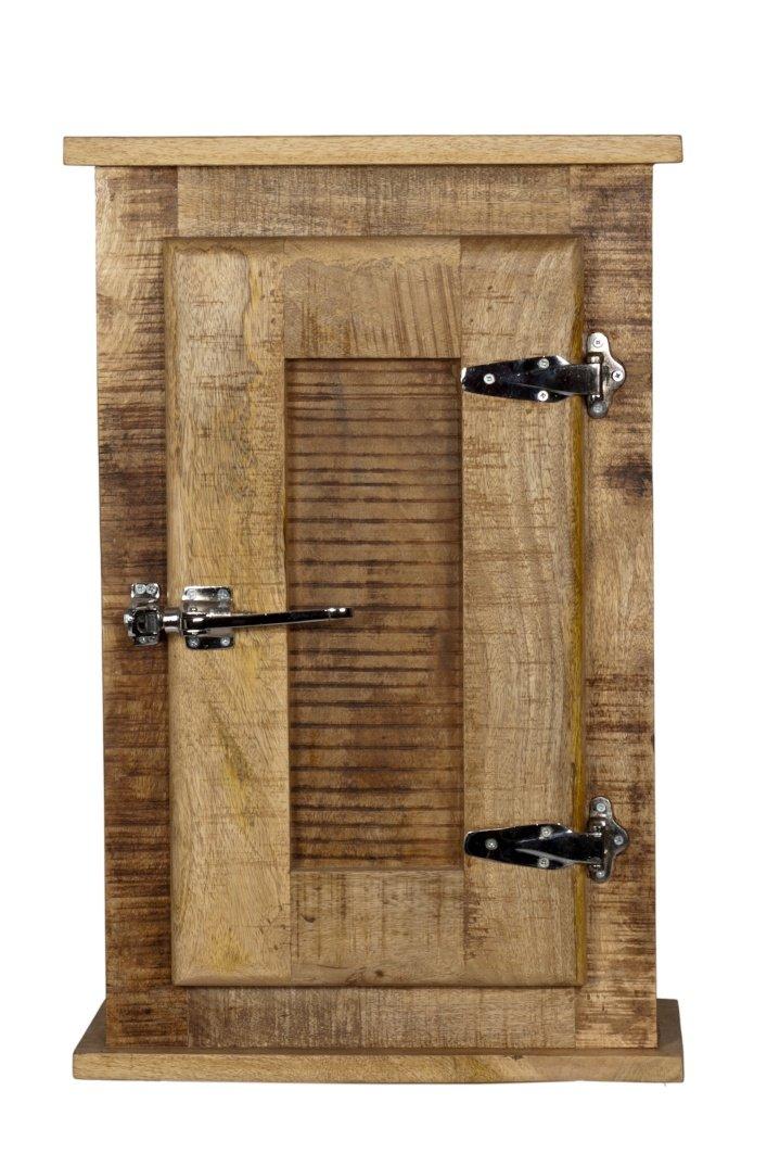 SIT-Möbel 2502-01 Frigo Placard suspendu en bois de manguier massif Avec poignées style porte de réfrigérateur Bois