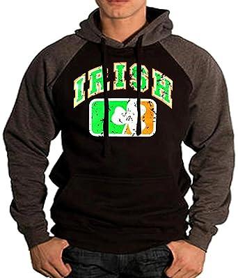 3c00f8911ecd8 Amazon.com: Men's Irish Flag Shamrock Hoodie MMA Ireland Sweatshirt ...