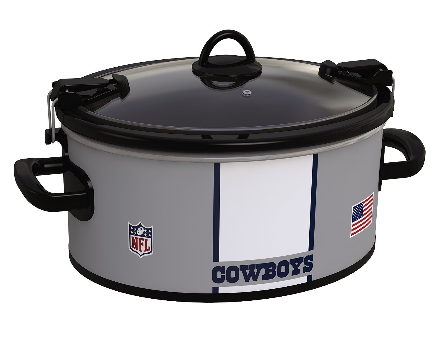 Amazon.com: Crock-Pot Dallas Cowboys NFL 6-Quart Cook & Carry Slow ...