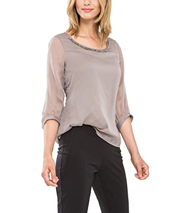 Bluse 3/4-Arm comma%2c beige Comma