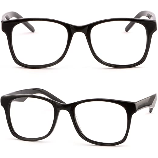 e9a91305f9d Image Unavailable. Image not available for. Color  Large Full Rim Square  Men s Women s Plastic Acetate Frame Spring Hinges ...