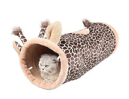 Cat Pet Túnel Suave Crinkly Bola 3 Hoyos Laberinto Tubo Plegable para Gatos Gatito Conejo Cachorro