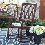 Belham Living Ashbury Indoor or Outdoor Wood Rocking Chair Dark Brown For Sale