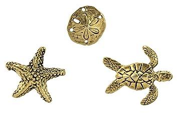a83f1b558 Amazon.com: 3PC LAPEL PINS, SEA TURTLE, SAND DOLLAR, STARFISH ...