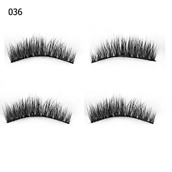 d5da7358031 Amazon.com : 1 Set 0.07 Triple Magnetic False Eyelashes Extension Tools  Full Coverage Glue-Free Magnets Eye Lashes Thick Long Makeup Tools 036 :  Beauty