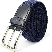 Glamexx24 Cinturón trenzado de cinta elástica para hombres y mujeres unisex