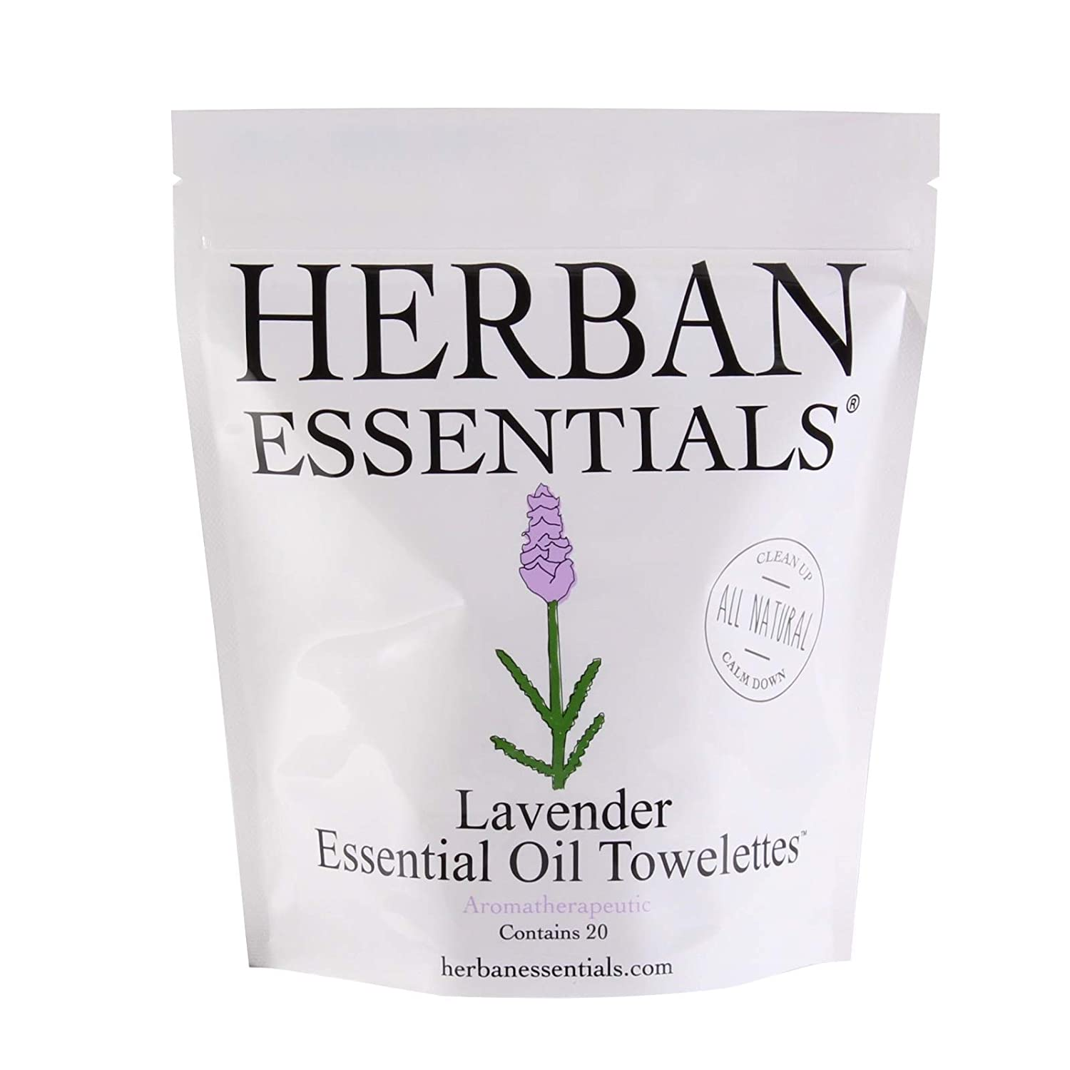 Herban Essential Lavender Essential Oil Towlettes -20ct 00835762000056