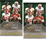 2 (Two) PACK LOT : 2013 Upper Deck Hobby NFL Football Cards - Factory Sealed (2 Packs - 6 Cards/Pack) NCAA