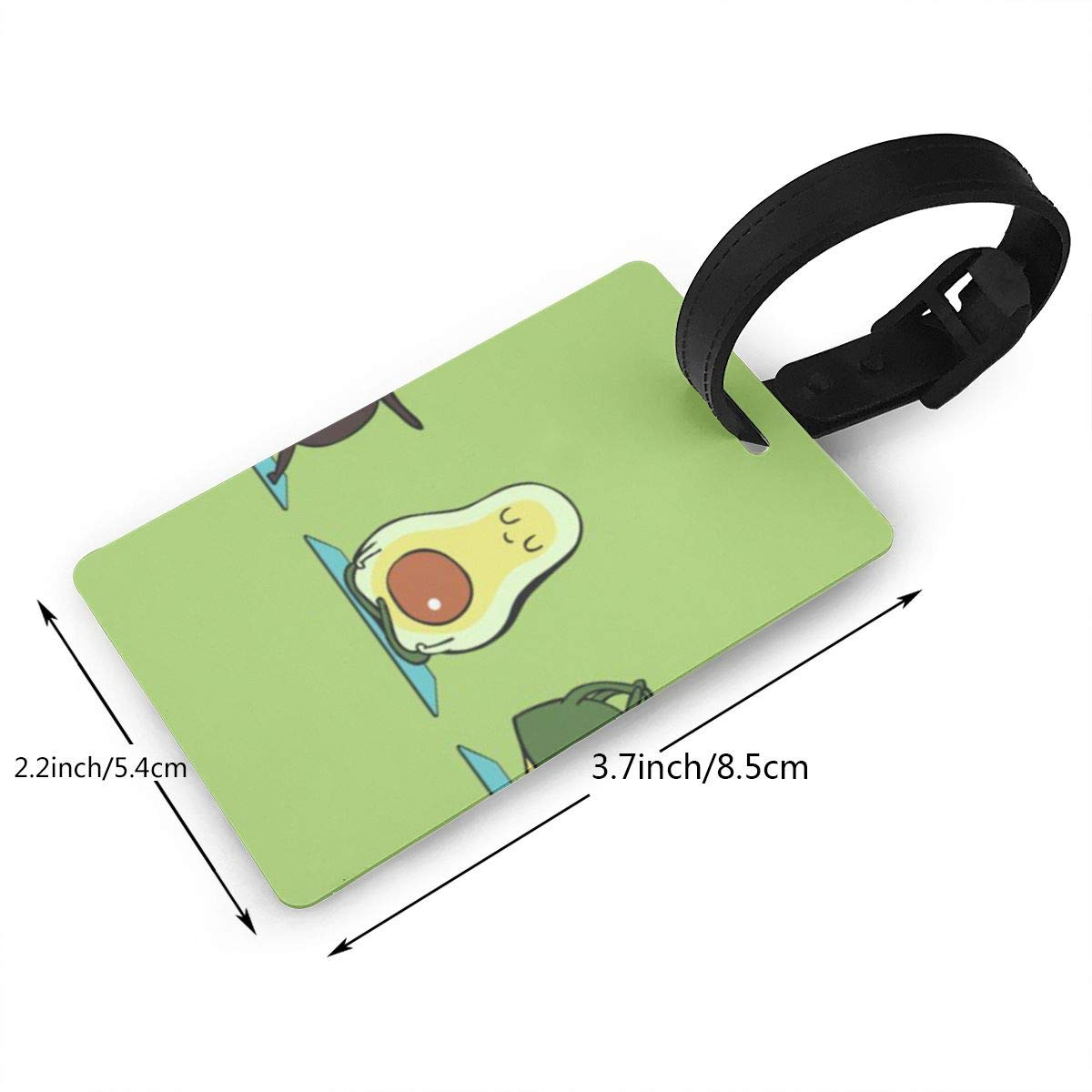 Avocado Yoga Luggage Tags Bag Travel Labels For Baggage Suitcase