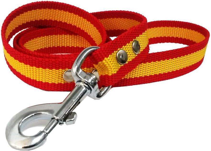Happyzoo Correa Paseo Bandera de España 1 Metro - para Perro: Amazon.es: Productos para mascotas