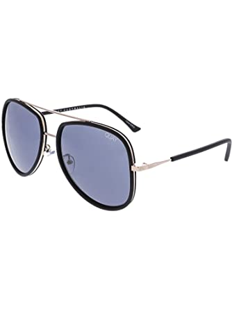 3866e2126 Quay Australia NEEDING FAME Women's Sunglasses Bold Aviator - Black/Smoke