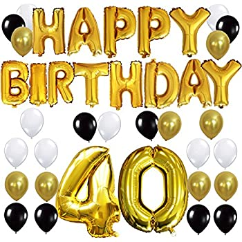 40th birthday decorations balloons banner for Decoration 40 ans homme