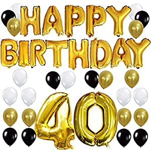 Kungyo 40th birthday party decorations kit for Decoration 40 ans homme