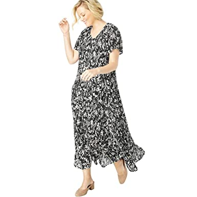 fa9d4d0b932 Woman Within Plus Size Crinkle Dress at Amazon Women s Clothing store