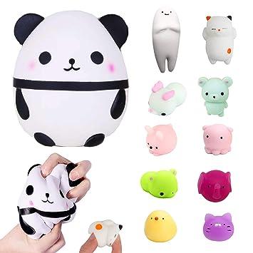 Squishy Panda, Soft Squeeze Panda Egg con Mini Kawaii Mochi ...