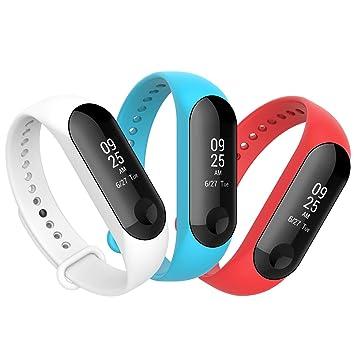 Anjoo Correa Compatible Para Xiaomi Mi Band 3/ Xiaomi Mi Band 4, Pulsera de Reemplazo Deportivo Para Mi Smart Band 4 Correas Suave Ajustable de ...