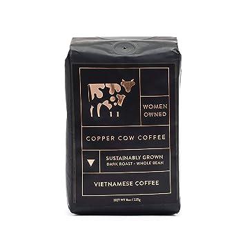 Café vietnamita de vaca de cobre, crema de leche condensada ...