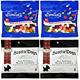 Gimbal's Gourmet Candies - Variety 4 Pack - 2 Bags Assorted Jelly Beans, 2 Bags Scottie Dogs Licorice