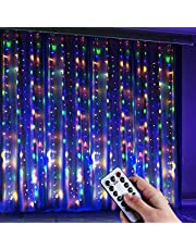Anpro Window Curtain String Light, 300 LED Warm White Window Fairy String Lights with 8 Modes, 3m x 3m 8 Modes USB Powered LED Curtain Lights for Christmas, Party, Wedding, Bedroom Decoration…