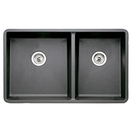 Blanco 441128 16-Inch Précis 1-3/4 Bowl Sink, Anthracite - Double ...