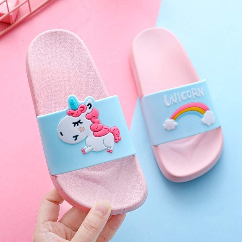 Coralup Boys Girls Unicorn Slide Sandals Children Anti-Slip Beach Summer Slipper Shower Pool Shoes