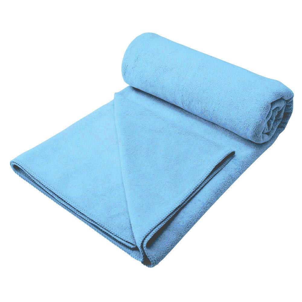 YOUYUN Dog Towel, Ultra Large 56''x28'' Microfiber Pet Drying Towel, Super Absorbent but Won't Trap Fur, Soft Touch Dog/Cat Bed Blankets (Sky Blue)