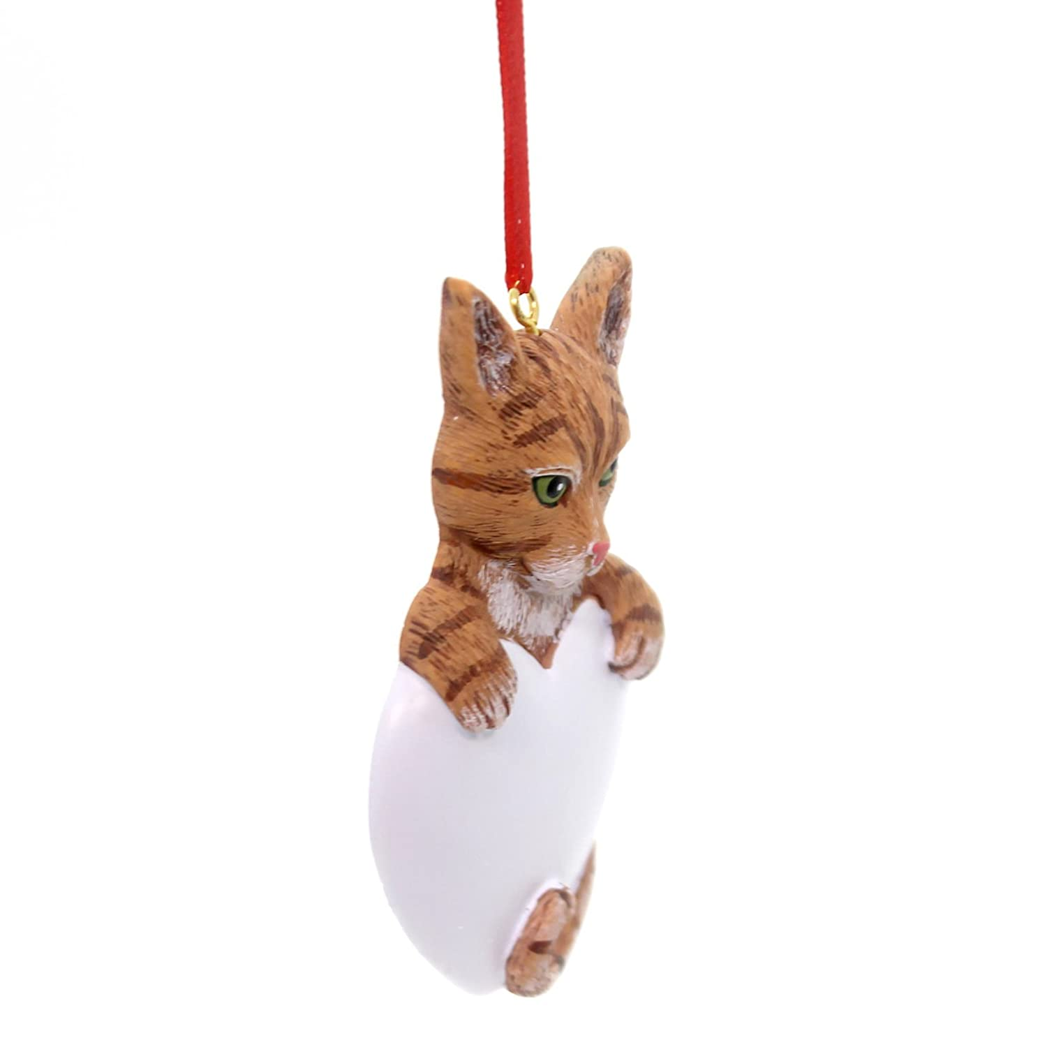 Tabby cat ornament - Amazon Com 8278 Tabby Cat Orange Hand Personalized Christmas Ornament Home Kitchen