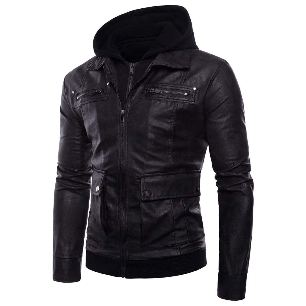 Men Hoodie Pullover,Kemilove Male Autumn Winter Jacket Long Sleeve Zipper Blouse Sport Tops Black by kemilove-men clothing