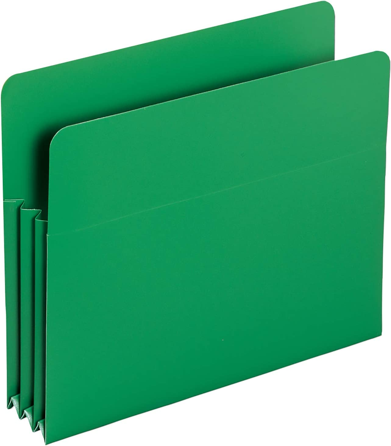 Assorted Colors Straight-Cut Tab 73500 Smead Poly File Pocket Letter Size 4 per Box 3-1//2 Expansion