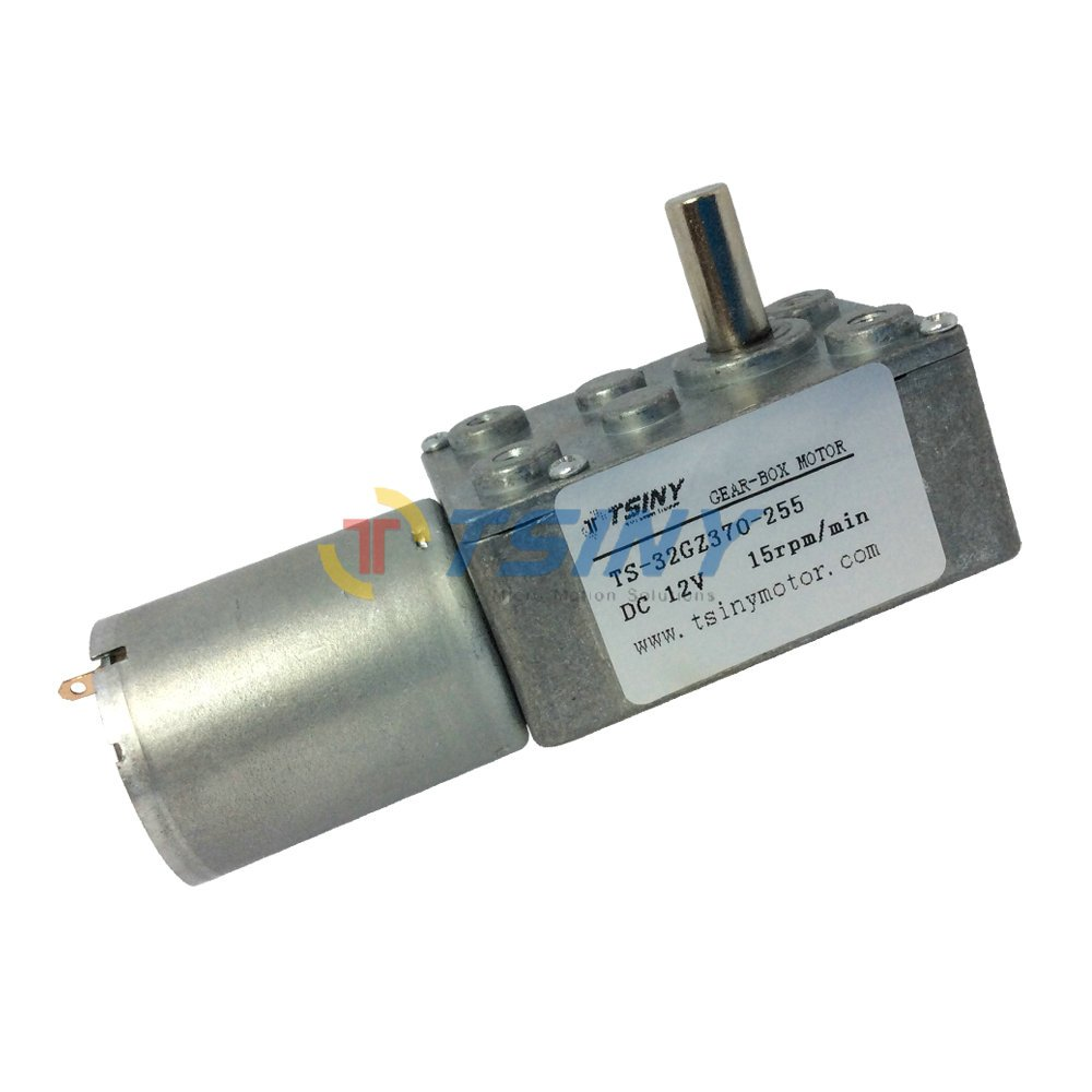 Small 12vdc 15 Rpm Worm Reduction Gear Motor Electronics
