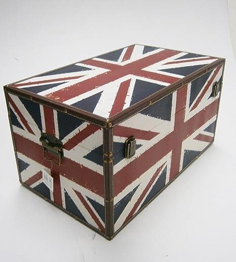 UNION JACK STRONG WOODEN STORAGE UNIT CHEST BOX TRUNK. Medium L50 x W28 x & UNION JACK STRONG WOODEN STORAGE UNIT CHEST BOX TRUNK. Medium: L50 x ...