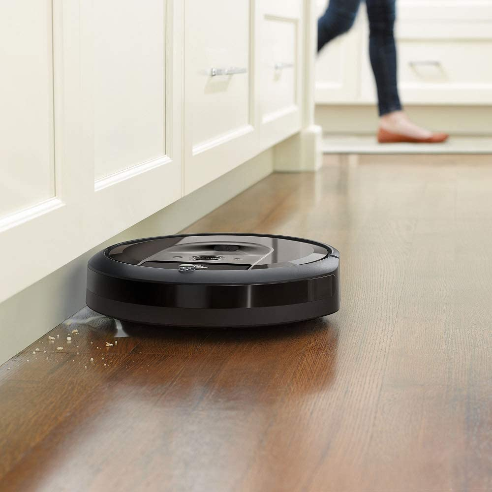 Great for Pet Hair iRobot Roomba i7 Robotic Vacuum Bundle- Alexa Connected +1 Extra Edge-Sweeping Brush, 1 Extra Filter Home Mapping
