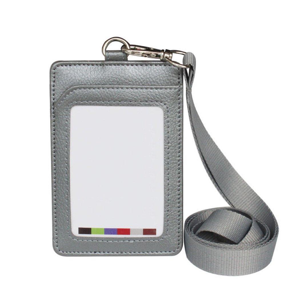 Fablcrew Distintivo di titolare di carta didentit/à con lungo collo cordino Band per Ufficio size 11.2 7.5cm Nero