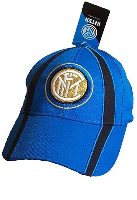 CAPPELLO INTER CAPPELLINO UFFICIALE BERRETTO CAP con VISIERA (BLU ROYAL) 85bbf396e1a8