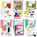 Silhouette Cameo Starter Kit Bundle with 5 Kits, 24 Sketch Pens, and 5 Starter Project Guide