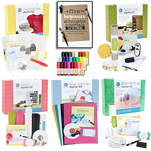 [Silhouette Cameo Starter Kit Bundle with 5 Kits, 24 Sketch Pens, and 5 Starter Project Guide] (3