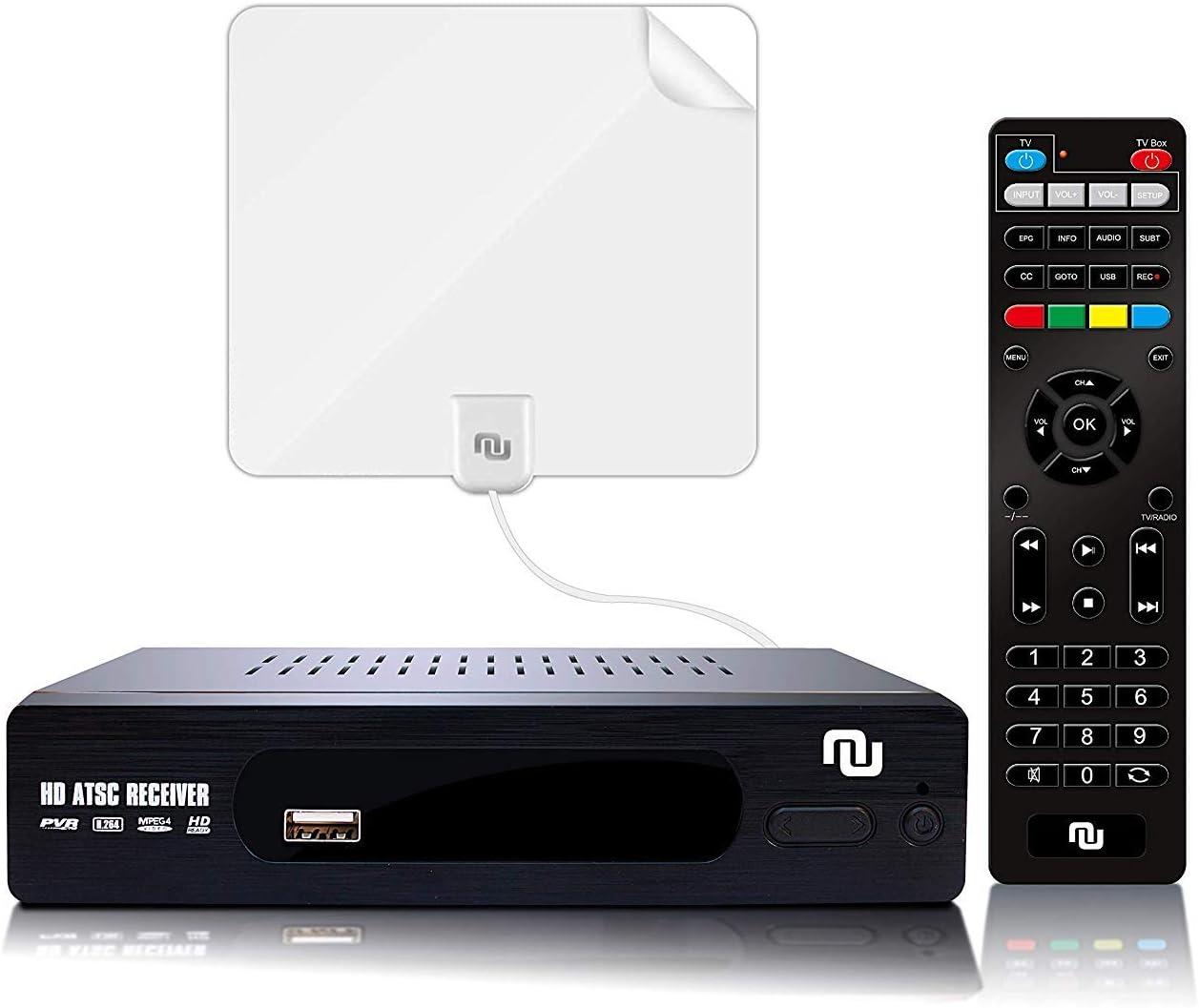 NUNET ATSC HD convertidor Digital Caja con 1080p Salida HDMI, 35 ...