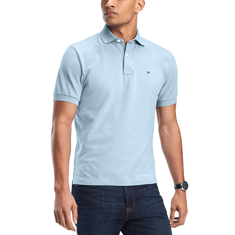 8263fdb8 Tommy Hilfiger Men's Custom-Fit Ivy Polo Blue 2XL at Amazon Men's Clothing  store: