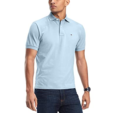 139b0648 Tommy Hilfiger Men's Custom-Fit Ivy Polo Blue 2XL at Amazon Men's ...