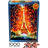 Jigsaw Puzzles for Adults 1000 Piece, Game of Thrones Puzzle for Kids Ages 8-10 Family-The Eiffel Tower Glow in The Dark