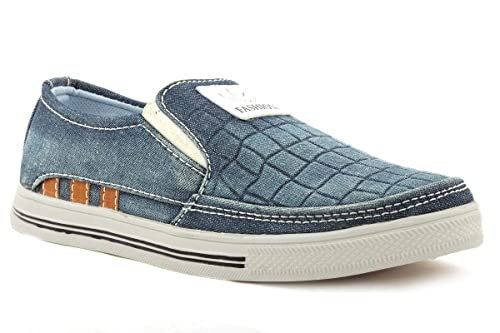 39f0548c7e1f50 BoonWalker Indigo Croc Pattern Loafers for Men  Buy Online at Low Prices in  India - Amazon.in