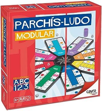 Cayro - Parchís Modular 8 Jugadores- Juego de Tradicional - Juego de Mesa - Desarrollo de Habilidades cognitivas - Juego de Mesa (700): Amazon.es: Juguetes y juegos