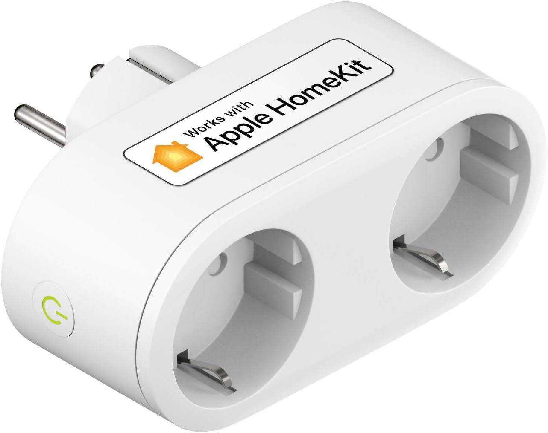 Prise Connectée HomeKit (EU), Biplite Intelligent Compatible avec Apple HomeKit, Siri, Alexa,...