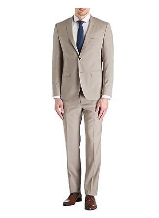 01b468011 Hugo Boss 2 Button Flat Front 2 Piece Men's Suit 100% Italian Virgin Wool  Regular