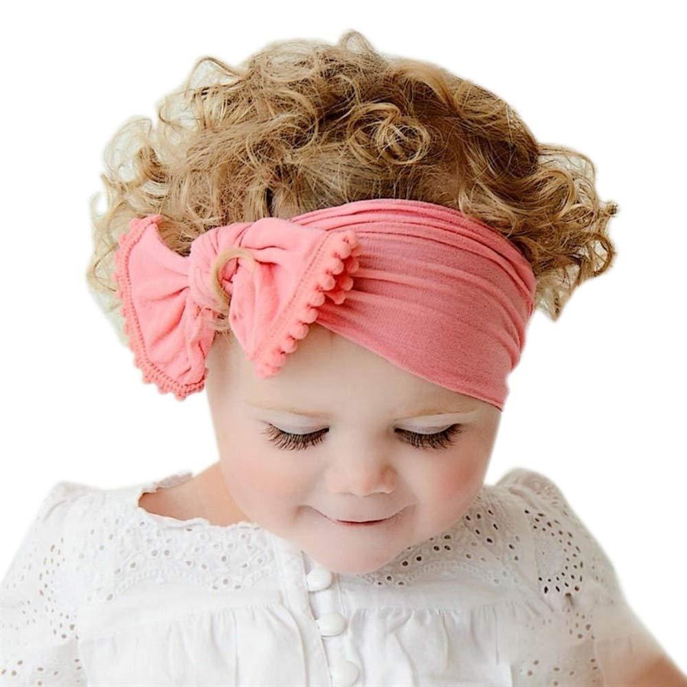 Beb/é Ni/ños Ni/ñas Infantiles deFlor Hairband del Arco Turbante Nudo Conejo Diadema Venda del Pelo de Headwear Amphia Diadema Floral Pelo Ni/ñas Beb/é Bowknot Hairband Conjunto Mariposa Ni/ñas Diadema