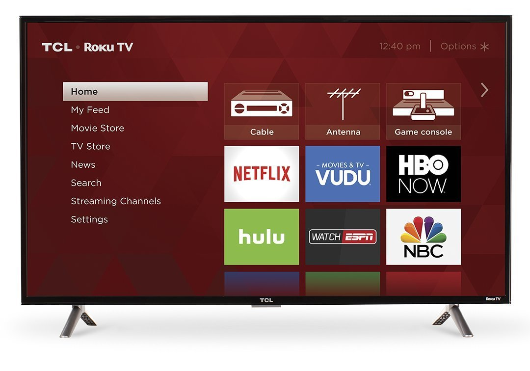 TCL 40S305 40-Inch 1080p Roku Smart LED TV (2017 Model) (Renewed)