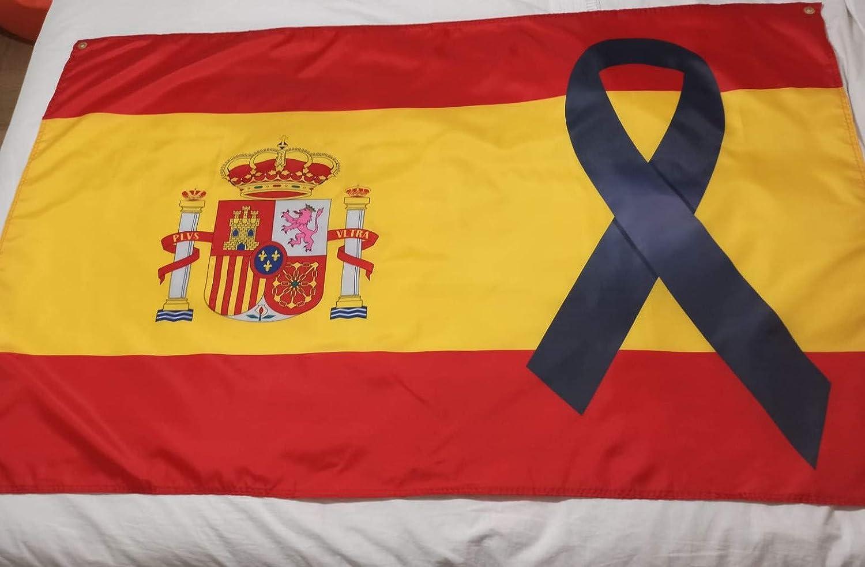 con crespo 150 x 90 cm Bandiera della Spagna colore: nero