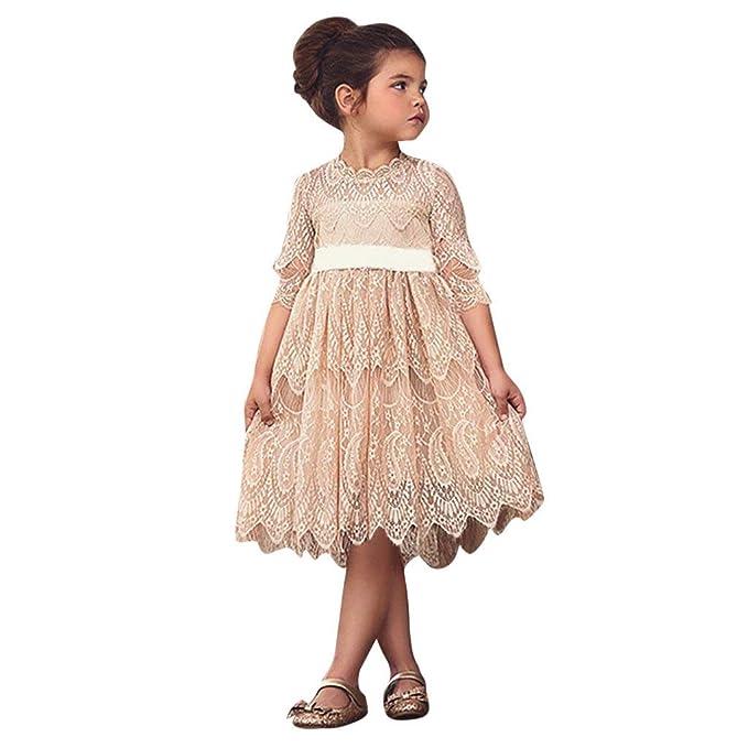 new concept 50f95 19ea0 BaZhaHei Bambini,Abito Bambina Natale Elegante Manica Lunga ...