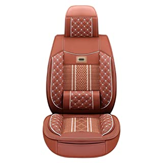 Qi Peng Coprisedile Traspirante Coprisedile Standard Cinque con Schienale Coprisedile Universale Quattro Stagioni Quattro Colori, Due Stili Cuscino di Seduta (Colore : A, Edizione : 2#)